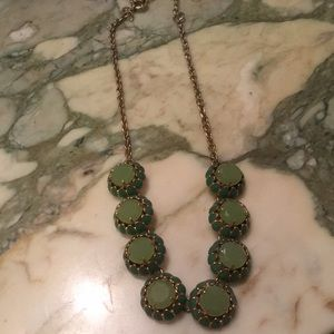 J. Crew mint green statement necklace